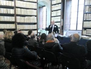 Eco Campanili - Sergio Nelli durante uno degli Incontri in Archivio