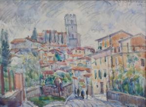 Umberto Vittorini - Barga, 1957, acquerello