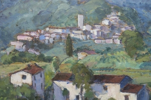 Umberto Vittorini - Coreglia, 1941, olio su tavola